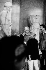 """And that is a penis!"" (sechsterangriff) Tags: people blackandwhite bw paris france film monochrome statue museum analog blackwhite funny ledefrance louvre muse spotmatic manual reactions oldcamera ilfordfp4plus125 asahipentax spotmaticii smctakumar11450"