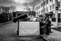 all.of.it (jonathancastellino) Tags: leica toronto sign dumpster construction friend phone telephone m summicron figure recycling curb mattress neighbourhood regentpark