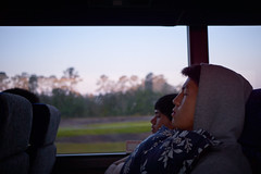 Nap Time (CrispyCucumberz) Tags: morning zeiss early hoodie nap sleep charterbus orlandobound sel24f18z sonya6000
