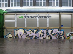Freights (Thomas_Chrome) Tags: train suomi finland graffiti moving europe cargo illegal nordic freight rolling vr freights benching