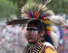 Pow Wow dancer (marianna_a.) Tags: canada motion blur male men festival wow festive indian ceremony dancer pow tribe kahnawake mariannaarmata p2550543