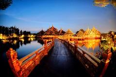43 Golden Moments Fine Art Photography Night View Night Lights Thailand Bangkok Water Reflections at Ancient Siam () (rapisu) Tags: thailand nightlights bangkok nightview fineartphotography waterreflections 43goldenmoments