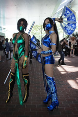 Jade and Kitana (greyloch) Tags: costumes sexy cosplay jade otakon mortalkombat baltimoremd 2015 kitana gamecharacter hotlooking gamecharactercostume