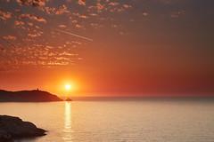 Corsian Sunset - Sonnenuntergang in Calvi (macplatti) Tags: sunset holiday france yellow evening abend warm sonnenuntergang sundown corse calvi fra mediterranian tageszeit
