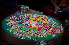 mandala sand painting (sure2talk) Tags: mandalasandpainting mandala sand painting symbols symbolic tibetan tashilhunpomonks sandpainting colours tradition pattern nikond7000 nikkor1855mmf3556afs 7daysofshooting week2 iconsandsymbols shootanythingsaturday lyndhurst