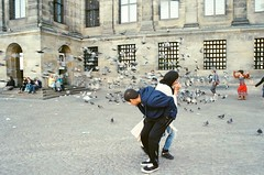 when birds attack (NayabKhan) Tags: amsterdam pigeons film 35mm