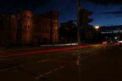 PortaNigra 017 (ollicrusoe) Tags: roman porta nigra trier trevis germany night available light trails