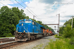 GECX ES44AC #2033 @ Yardley, PA (Darryl Rule's Photography) Tags: august bnsf buckscounty csx csxt catenary clouds cloudy demonstrator diesel diesels edgewoodrd ge gecx k144 leaser oil oiltrain oiltrains pa pennsylvania reading readingrailroad summer tier4 trentonsub westbound yardley