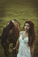 The girl and the horse (lunaperri) Tags: wood city trip travel trees sunset wild summer portrait england horse cold flower tree cute art fall texture abandoned nature colors girl face fashion animal fog forest vintage dark landscape fun fire 50mm freedom cow dance trapped eyes friend estate dress arms forrest alba explosion free pale fairy fantasy land essence freckles 365 elegant nymph tale trap woos etnic ital portraot tumblr vsco