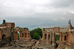 Taormina Greek Theatre (njk1951) Tags: panorama monument architecture theater view theatre sicily taormina etna sicilia greektheatre ancientmonument historicsite taorminasicily ancienttheatre sicilianholiday