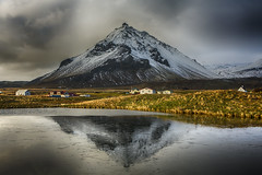 Icy reflection of Stapafell (Nick L) Tags: reflection ice canon eos iceland 5d canon5d arnarstapi icelandic stapafell canon2470l snaefells snfellsnesvegur snaefellspeninsula 5d3 snjofell canon5d3 canon2470li