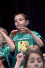 2016-04-07 (109) Fred D ES 2nd grade show (How Does Your Garden Grow) evening (JLeeFleenor) Tags: photos photography virginia va leesburg loudouncounty frederickdouglass elementaryschool twins inside indoors youthactivities youth skit