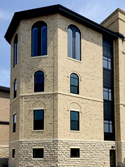 Fond du Lac Tailored Blend - 100% Splitface & Rockfaced - Silverdale Cut Stone Bushhammered (Buechel Stone) Tags: stone stonewalls naturalstone stonemasonry buildingstone stoneveneer stoneexterior thinveneer buechelstone fullveneer exteriorstoneveneer stoneveneerexterior