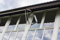 IMG_8422 (Siw Linda) Tags: summer nature outdoors grainy building grain school old windows tree dark moody