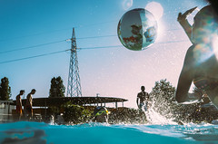 Milan, Italy (Davide Albani) Tags: street streetphotography streetcolor streets ricoh gr unposed candid people swimming pool