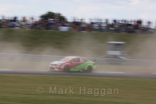 Michael Caine in Touring Car action during the BTCC 2016 Weekend at Snetterton