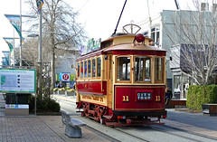 Tram 11: 'The Boxcar' Christchurch (Bernard Spragg) Tags: trams transport rail streetcars