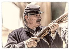Sharpshooter (Wes Iversen) Tags: civilwardays michigan portsanilac tamron150600mm guns men people portraits reenactments reenactors uniforms vintage costumes frames