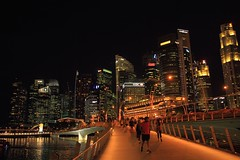 Merlion park (Rajavelu1) Tags: cityatnight city tallbuildings colours lionstatue water bridge people art artland creative canon60d internationalphotographer travel toor