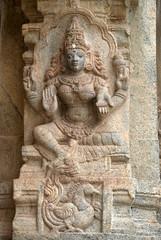 Goddess (VinayakH) Tags: talakad karnataka india temple hindu chola gangadynasty hoysala carvings vaidyeshvara kirtinarayana