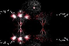 Fireworks Decazeville 2016 -  Espagne 03 (Sbastien Vermande) Tags: canon7d france midipyrnes mine pit aveyron decazeville fireworks rflexion reflection feuxdartifice nuit night pauselongue longexposure sigma1770exdc vermande