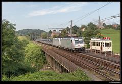 SNCF 186 188-9 + 186 186-3 - 46033 (Spoorpunt.nl) Tags: 14 augustus 2016 sncf 186 1889 1863 traxx trein 46033 shmmns staalrollen association pour la sauvegarde du vicinal asvi buurtspoorwegen lobbes thuin 9924 dyle louvain spoorlijn 130a