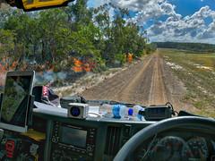 View from the office (peter.carlsen) Tags: australianbush australianlandscape fire mcphunsoftware panasoniclumixlx100 petercarlsen qfes rfs ruralfireserviceqld