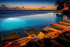 Deck chairs overlooking Waikiki (Victor Wong (sfe-co2)) Tags: deck chair waikiki honolulu hawaii usa sunset waterfront sheraton hotel seaside outdoor shore landscape seascape