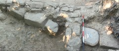 Massive stone slab (SMU Research Blog) Tags: etruscan mugellovalley mugello valley archaeological project uni deity fertility goddess mother stele poggio colla italy gregory warden southern methodist university archaeology