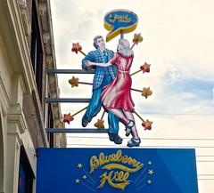 Blueberry Hill (ricko) Tags: sign couple dancing blueberryhill restaurant bar universitycity missouri stlouis