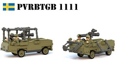 Pvrbtgb 1111 (Matthew McCall) Tags: lego war army military moc tank destroyer missile tow robot 55 sweden swedish cold