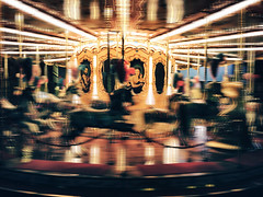 """The Speed of Fun"" (helmet13) Tags: iphone6s nocturne merrygoround carouselhorse motionblur night nostalgia florence italy aoi heartaward peaceaward 100faves world100f"