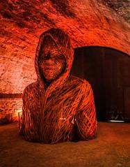 Sculpture inside Saint Paolino Bulwark (Blackburn lad1) Tags: italy sculptures red texture surreal