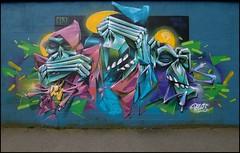 Pax49 (Moker Crew) (Chrixcel) Tags: streetart paris graffiti monkey graff rennes singe fresque mokercrew pax49 mokerism