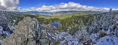 10-photo photomerged panorama from Hobart Bluff (acase1968) Tags: blue sky sun lake snow rock oregon photoshop lens nikon pacific cloudy peak crest southern trail d750 pct hobart nikkor storms ashland pilot vr bluff afs between partly emigrant f4g greensprings 24120mm cs6