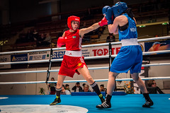 Nordic championship tournament -15, Bout 33 W51kg 1 (jvienonen) Tags: championship women tournament finals nordic boxing 2015 w51kg