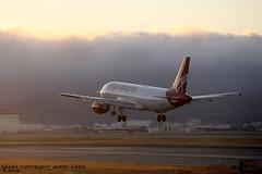 Coming Home (JerryKSAN737) Tags: sanfrancisco airplane airport sfo aircraft landing virgin airbus approach a320 vx ksfo internationalairport virginamerica n854va