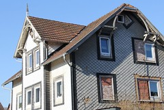 The one and the other side (:Linda:) Tags: brick window germany town bluesky thuringia gable fachwerk themar blockedup slateshingled