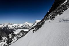 There is always a way down (Tobiasvde) Tags: blue sky mountain snow rock schweiz switzerland nikon suisse swiss nikkor wallis vr valais 18105 zwitserland saasfee allalinhorn allalin saastal d7000