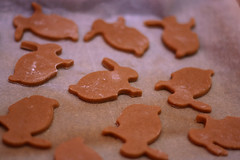 Bunnies (material grrrl) Tags: bunnies cake easter gingerbread honey pastry 365