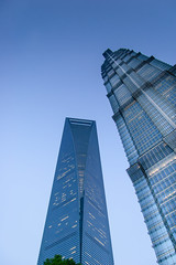 Shanghai WFC & Jin Mao tower 2 /  &  2 (freshwater2006) Tags: china tower skyscraper jin mao pudong wfc rascacielos   shanghaishi shanghi