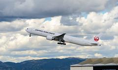 JAL (rikiomgawa) Tags: sky clouds airplane nikon aircraft scenic lax airlines runway jal lightroom japanairlines losangelesinternationalairport d7000