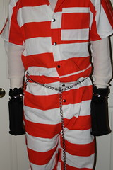 IMG_0545 (bob.laly) Tags: uniform jail shackles handcuffs prisoner jumpsuit inmate