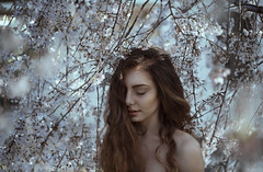 Every flower blossoms (laaurariva) Tags: flowers portrait nature girl beauty face hair spring skin fineart blossoms makeup pale redhead freckles vsco vscocam
