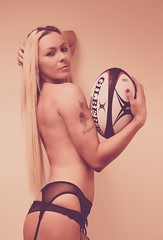 Rugby Five Nations shoot (sophie_merlo) Tags: woman sexy girl glam ringgirl