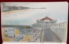 Sketchnotes of Blankenberge, Belgian coast (Claudio Nichele) Tags: belgium belgique belgie noordzee blankenberge zee doodle merdunord belgiancoast sketchnotes