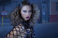 Hot night (Dario Baruzzi) Tags: woman black sexy face fashion factory post makeup fantasy production editing