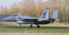 USAF F-15 (Rens Bressers) Tags: holland netherlands fighter flag aviation military north nederland practice fighters operation pilot friesland airbase leeuwarden noord vlag operatie frisian friesche vliegbasis ehlw