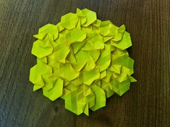 Chronian Slide Tessellation (Clint Yang) (Clint Joe) Tags: paper origami lol tessellation tessellations paperfolding folding kami backlighting papercraft artmagazine origamiart clintyang