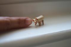 Miniature wooden jointed piggy (MonkEyGstudio) Tags: wood pig miniature wooden etsy monkeygstudio handcarvedwoodenminiaturedoll